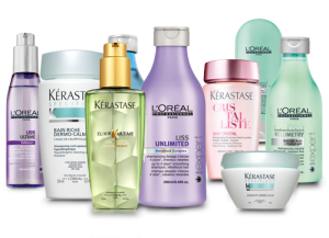 Loreal and Kerastase products at the Best hair salon Cheltenham